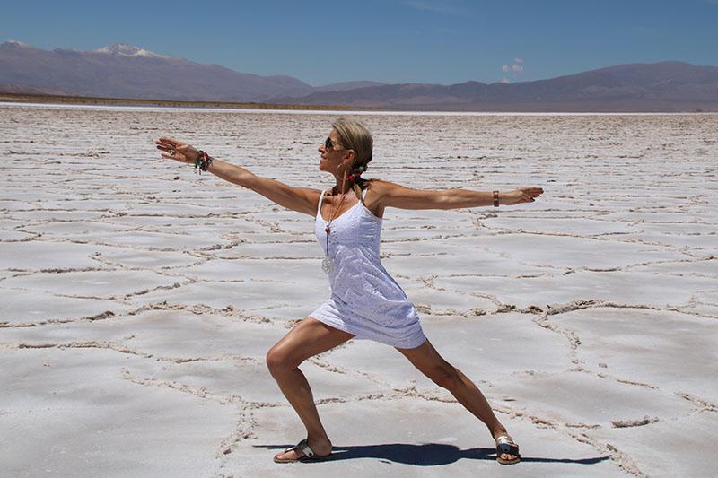 Yoga posture du guerrier vertueux